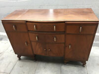 Vintage sideboard , in good condition . Lovely detail . Free local delivery.