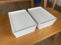 4no. Storage box with lid, white, 18x26x8cm IKEA [KUGGIS]