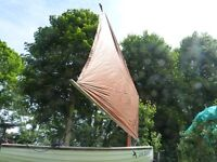 Vintage sailing boat, Swallows and Amazons style. Ideal for exploring creeks.