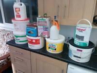 Paint, masonry paint, PVA, floor levelling...