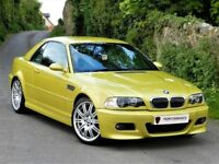 FLAWLESS! BMW M3 3.2 CONVERTIBLE 2003 SMG, RARE PHOENIX YELLOW +SMG GEARBOX +HARDTOP +HEATED LEATHER