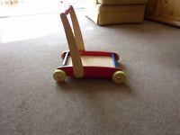 elc wooden baby walker
