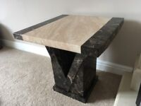 Set of 3 marble lamp tables