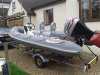 Ribcraft 4.8ft Ex Sibs Patrol Boat + Trailer