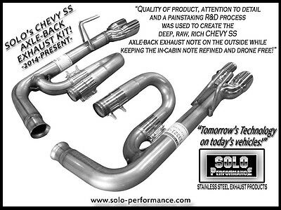Solo Performance Axle Back Exhaust For Chevrolet Ss Raw American Muscle
