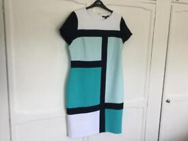 M& S Dress, work style, turquoise, light blue, size 16 £ 10 NOW £5.00