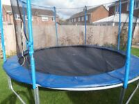 Used 12 ft Trampoline with enclosure