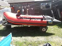 ZODIAC MK 2 DINGHY ( 3.8 meters) and trailer