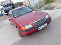 LHD MERCEDES C 180 ,,we have more left hand drive ---15 cheap cars on stock---