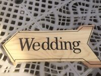 Wedding signpost