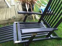 Black wooden recliner