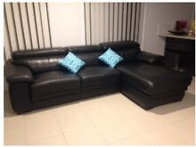 Quality 100% Italian Leather Modular, Black Lounge, Great condit! Maroochydore Maroochydore Area Preview