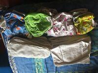 Baby washable nappies bundle for sale
