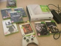 X Box 360 with console and games, excellent condition