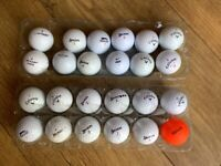 24 pre owned Golf Balls - mixed lot of names & conditions