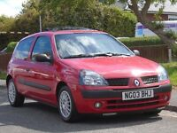 Renault Clio 1.4 16v Expression 3dr£699 p/x welcome LOW MILEAGE,LONG MOT,LOW TAX