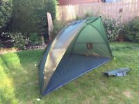 Fishing shelter with groundsheet ,easy to set up takes 5mins