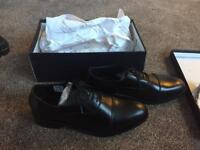 BRAND NEW IN BOX HANDMADE BLACK LEATHER SHOES FROM SAMUAL WINDSOR SIZE 10. Rrp£99.50