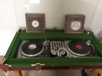 Custom DJ table, mixer and decks
