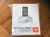 JBL On Stage Micro 3 Portable Music Loudspeaker for Iphone and Ipod