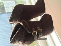 5 inch brown booties size 7 1/2