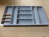 Large Cutlery Drawer Organiser Tray 71cm wide x 47cm depth x 5cm high