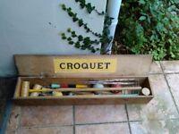 Old croquet set