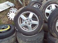toyota alloys 15' good tyres