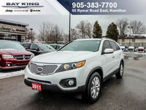 2011 Kia Sorento 2X, ALL WHEEL DRIVE, LOW KM, HEATED SEATS, BACK