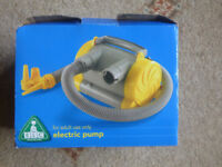 Electric pump for inflatable beds and toys.