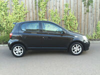 2005 55.REG TOYOTA YARIS 1.3 VVT-I COLOUR COLLECTION 5 DR IN BLACK