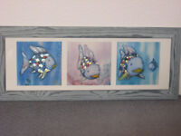 Rainbow Fish (by Marcus Pfister) tryptich framed children's picture print by Art Group