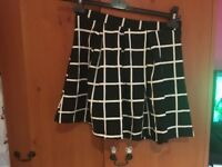 Boohoo checked skirt