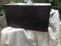 Antique Japanese travelers chest
