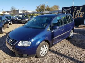 2004 VW TOURAN 1.6 FSI 7 SEAT MPV DRIVES LIKE NEW couple of marks hence bargain price
