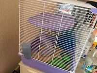 Hamster and 3 tier cage