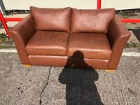 2 seater office reception sofa settee in leather