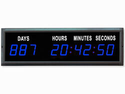 EU 1.8'' Blue Color LED Countdown Clock Count Up With IR remote