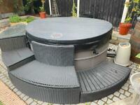 Hot tub with Furniture