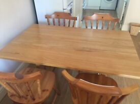 Classic wooden style dining set-table and 4 chairs