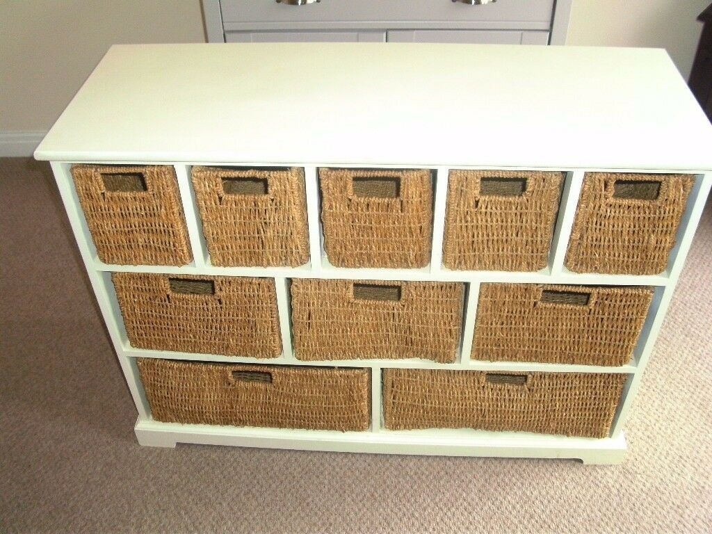 Storage Unit Chest of 10 Drawers / Storage Baskets