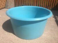 Large Heavy Duty Blue Plastic Garden Tub/Tank/Trough