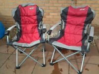 CAMPING/CARAVAN FOLD DOWN CHAIRS