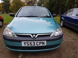 VAUXHALL CORSA 998CC 42000 MILES FULL SERVICE HISTORY 11 MONTHS MOT WITH NO ADVISORIES