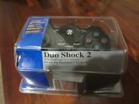 PlayStation 2 Duo Shock 2 Controller, Brand New, colour is Black