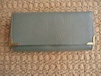 Womens Grey Bifold Purse