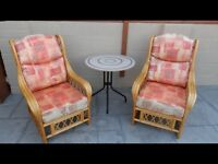 Conservatory chairs and bistro table