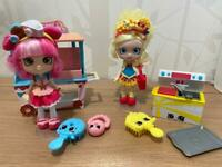 Shopkins Shoppie dolls with accessories, toys