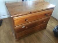 Pine chest of drawers x2 £30 each