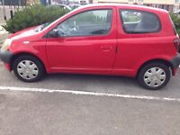 TOYOTA YARIS (YEAR 2001) 998CC PETROL, 3DOOR AND 5 SEATS
